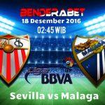 Prediksi Sevilla vs Malaga 18 Desember 2016
