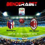 Prediksi Bola Bologna VS AC Milan 23 Desember 2016