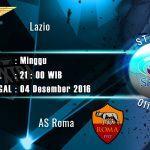 Prediksi Bola Lazio vs AS Roma 04 Desember 2016