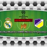 Prediksi Real Madrid vs APOEL Nicosia 14 September 2017