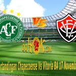 Prediksi Pertandingan Chapecoense vs Vitoria BA 17 November 2017,