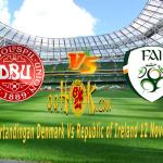 Prediksi Denmark vs Republic of Ireland 12 November 2017
