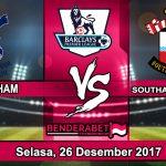 Prediksi Pertandingan Tottenham Hotspur vs Southampton Selasa, 26 Desember 2017