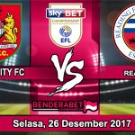 Prediksi Pertandingan bristol City vs Reading Selasa,26 Desember 2017