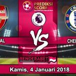 Prediksi Pertandingan Arsenal vs Chelsea 4 Januari 2018