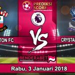 Prediksi Pertandingan Southampton vs Crystal Palace 3 Januari 2018