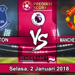 Prediksi Pertandingan Everton vs Manchester United 2 januari 2018