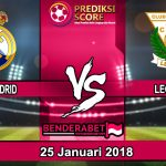 Prediksi Pertandingan Real Madrid vs Leganes 25 Januari 2018