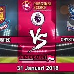 Prediksi Pertandingan West Ham United vs Crystal Palace 31 Januari 2018