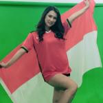 Maria Ozawa Sebutkan Alasan Unggah Video Pakai Jersey Timnas Indonesia