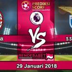 Prediksi Pertandingan AC Milan vs Lazio 29 Januari 2018