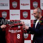 Iniesta Resmi di Perkenalkan Klub Jepang, Vissel Kobe