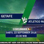 Prediksi Getafe Vs Atlético Madrid 22 September 2018