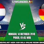 Prediksi Belanda vs Jerman 14 Oktober 2018