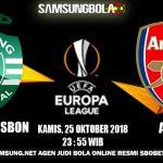 Prediksi Pertandingan Sporting Lisbon vs Arsenal 25 Oktober 2018