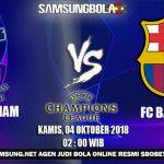 Prediksi Tottenham Hostpurs vs Barcelona 4 Oktober 2018