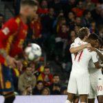 Highlights Pertandingan Spanyol vs Inggris