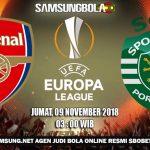 Prediksi Arsenal vs Sporting Lisbon 9 November 2018