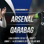 Prediksi Arsenal vs Qarabag 14 Desember 2018