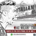 Prediksi AC Milan vs Empoli 23 Februari 2019