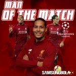 Virgil van Dijk Dinobatkan Sebagai Pemain Terbaik Liga Champions 2018-2019